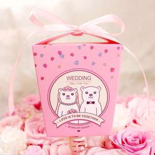 Cartoon Theme Weddig Door Gift Favors Box