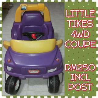 FREE POSTAGE Little Tikes 4WD Sports Coupe