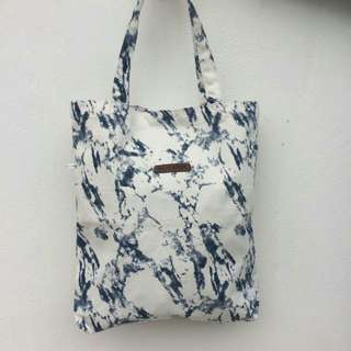 Tote Bag Marble Design