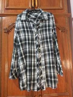 Long Black Flannel