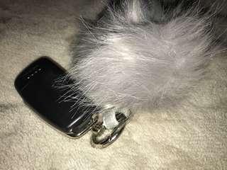 Fluff Ball Key Ring