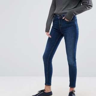 JACK WILLS FERNHAM mid-waisted super skinny jeans