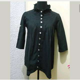 WA428 Black Smart Casual Blouse (Large)