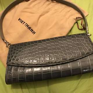 Viet Thanh Clutch Bag Real Crocodile Leather 真鱷魚皮手袋