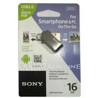 DUAL USB DRIVE 2.0 SONY OTG 16 GB - Original