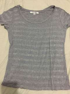 Forever 21 Studded Gray Loose Top