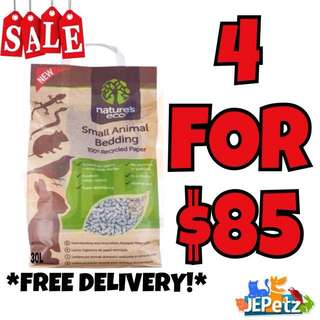 *NEW PROMO + FREE DELIVERY* Nature's Eco Small Animal Bedding 30L