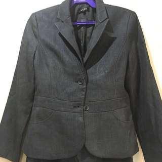 Blazer & A-Line Skirt Terno