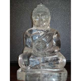 Huge natural quartz crystal Medicine Buddha