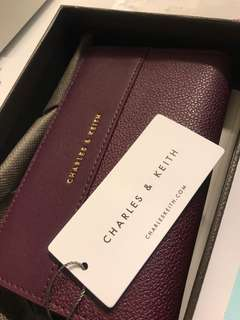 Charles and Keith prune wallet