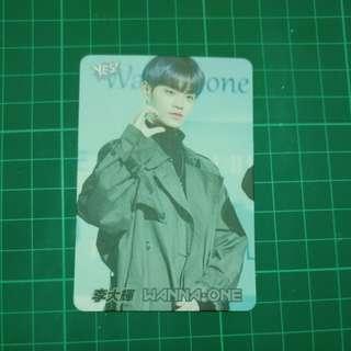 Yes card 30期 wanna one 李大輝