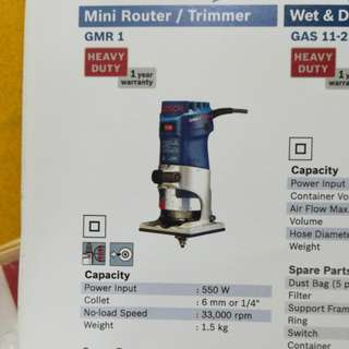 Bosch Mini Router/Trimmer GMR 1