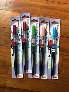 $37 value Pentel calligraphy brush pens BUNDLE