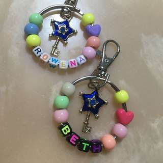 Personalised keychain galaxy key