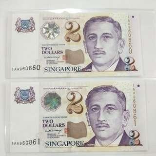 $2 LHL 1AA