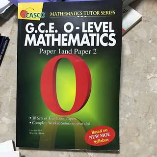 O Level Mathematics Paper 1&2