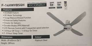 Panasonic Ceilling fan  F-14HWVBSQH