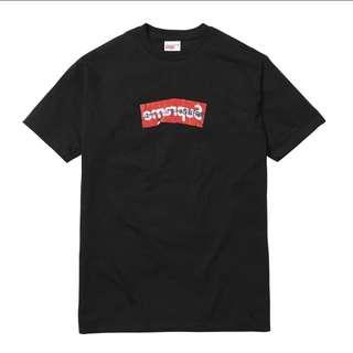 Supreme Cdg Box Logo T-Shirt ( Black/White )