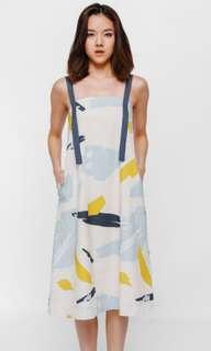 LF: Pavanka Tie Back Sash Midi Dress