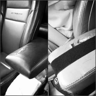 Honda Civic Stream Armrest Leather Wrap on cover!