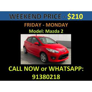 Mazda 2 Weekend Car Rental March