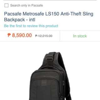 Pacsafe anti-theft sling backpack - repriced