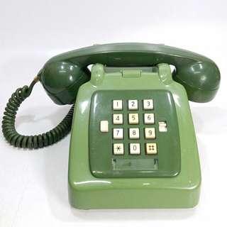 懷舊  香港電話公司 綠色按掣電話
