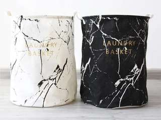 Luxurious Marble Print Laundry Bag