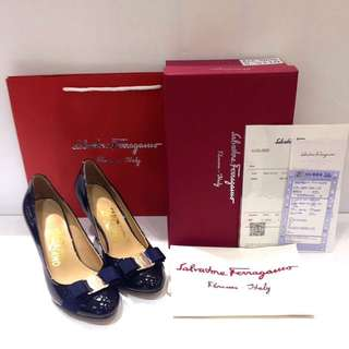 READY SALVATORE FERRAGAMO PUMP HEELS MIRROR 1:1 AUTHENTIC