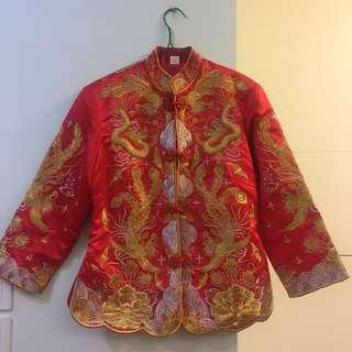 中式紅色裙掛 結婚 婚紗