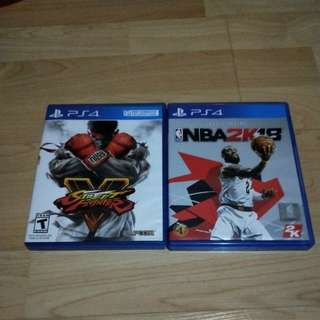 NBA2K18 and street fighter v I sell both together