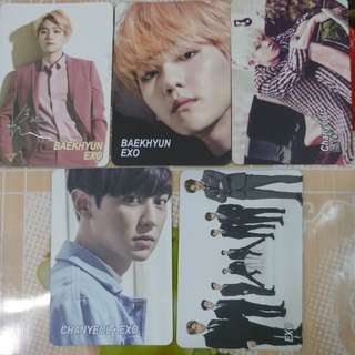Yes card EXO 5張 01
