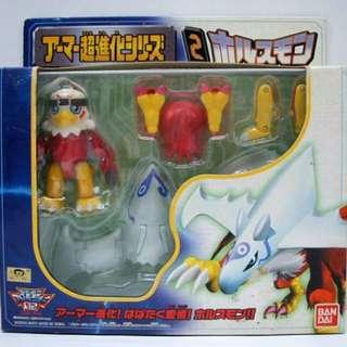 全新 Bandai數碼暴龍大冒險02 武裝進化玩具 麻鷹獸