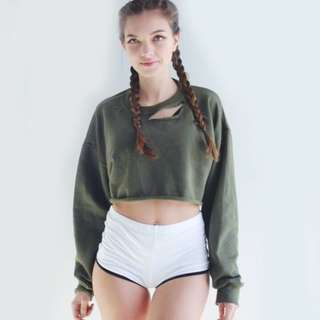 INSTOCK Long Sleeve Crop Top