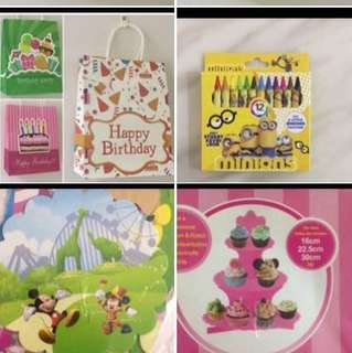 Goodies bag party stuff