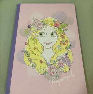 Disney Rapunzel B5 note book 單行簿 made in Japan