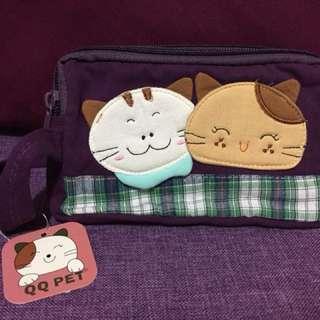 萌猫三層化粧袋