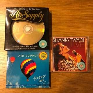 Air Supply audio & shania twain vcd bundle sales
