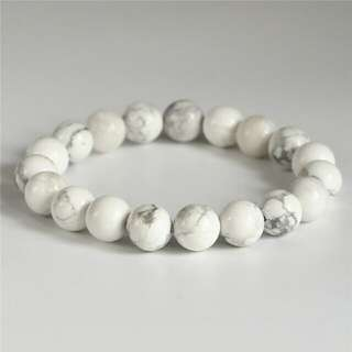 10mm - 14mm Howlite natural stone bracelet 10mm gift bangle gemstone bracelets