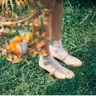 Lamo.3 花的優雅姿態瑪莉珍高跟鞋 粉色 40號 lamo3