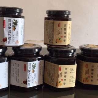 柴貨燉:川貝陳皮檸檬膏/柑橘檸檬膏.