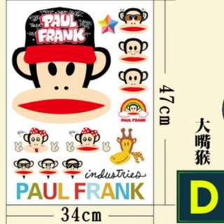 Big Adhesive Sticker for Luggage (Paul Frank)