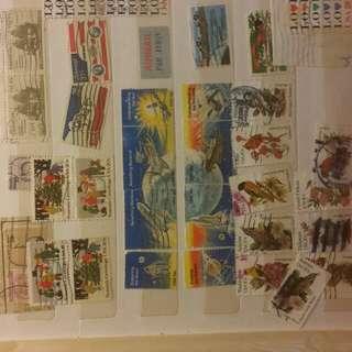 三十幾年郵票一本