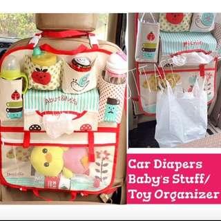Car baby stuff organizer
