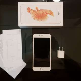 NEGOTIABLE: Apple iPhone 6S PLUS 64GB Rose Gold COMPLETE Globe Locked