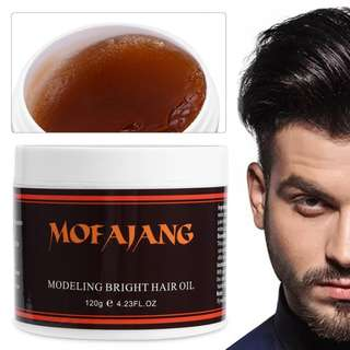 MOFAJANG 120g Hair Pomade Styling Wax Men Long-lasting Fluffy Natural Hairstyle Finalize Modeling Styling Hair Wax Gel Mud Cream