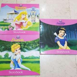 Disney princesses: snow white, sleeping beauty, cinderella
