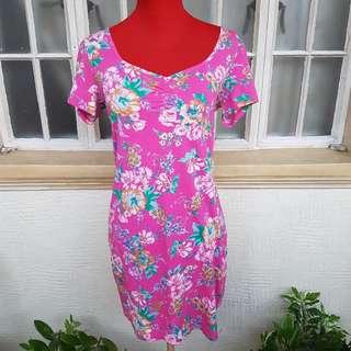 Terranova Floral Dress with Back Cutout