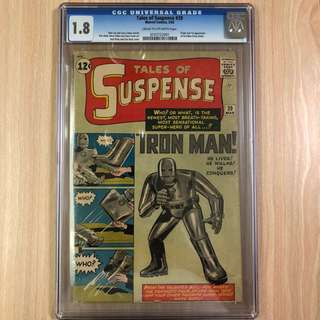 MARVEL COMICS Tales of Suspense #39-Origin & 1st Appearance of Iron Man (Tony Stark)(Serious Buyers Only)