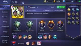 Selling Mobile Legends Account